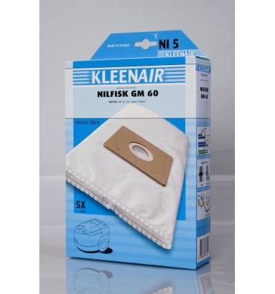 Kleenair NI 5 Støvsugerpose Nilfisk GM 60 (Microfibre)