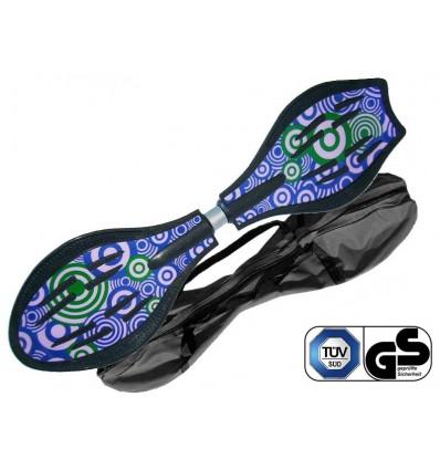 Waveboard MAXOfit® Pro Close Lea, op til 129kg, med LED hjul