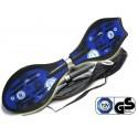 Waveboard MAXOfit® Pro Close Blau, op til 110 kg, med LED hjul